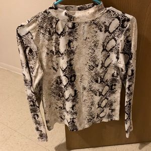 Snakeskin turtleneck
